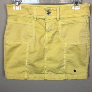 Distressed Tommy Girl Yellow Denim Mini Skirt